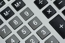 Free Calculator Buttons. Stock Images - 6470874