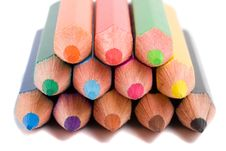 Pencils Pyramid Stock Photos