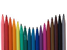Free Colored Marker Pen Stock Images - 6472894