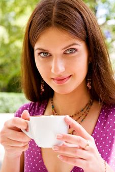 Free Beautiful Young Woman And Coffee Stock Photo - 6472960