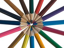 Assortment Of Colored Pencils Royalty Free Stock Photography
