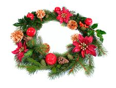 Free Christmas Wreath Royalty Free Stock Images - 6473589
