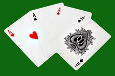 Playing Cards Four Aces Royalty Free Stock Photography