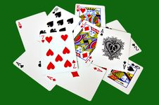 Set Of Cards Royalty Free Stock Photography