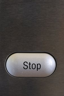 Free Stop Button Stock Image - 6474791