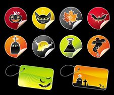Free Halloween Colorful Stickers Royalty Free Stock Photo - 6474835