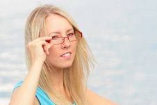 Free Girl In The Red Glasses Royalty Free Stock Photos - 6474948