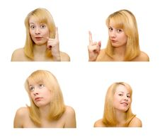 Free Female Emotions Royalty Free Stock Photos - 6474978