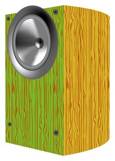 Wood Speaker Stock Photography