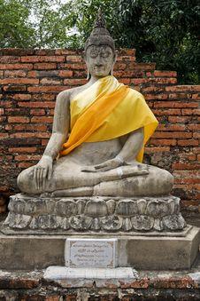 Buddha Statue In Ayutthaya, Thailand Stock Image