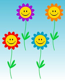 Free Smiling Flowers Stock Photo - 6476490