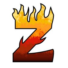 Free Flames Alphabet Letter - Z Stock Image - 6476651