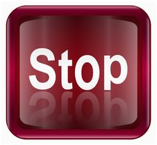 Free Stop Icon Stock Photography - 6476772