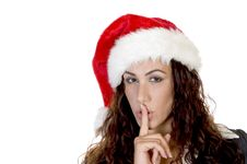 Free Lady Making Everybody Silent Royalty Free Stock Images - 6477609
