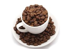 Free Cup With Grain Coffee Royalty Free Stock Photo - 6477975