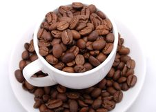 Free Cup With Grain Coffee Stock Photos - 6478143