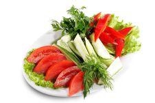 Free Fresh Vegetables Plate Stock Image - 6478211