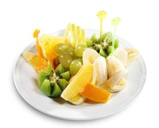Free Fruit Plate Royalty Free Stock Photo - 6478215