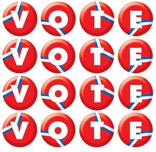 Free VOTE Buttons Stock Photo - 6479420