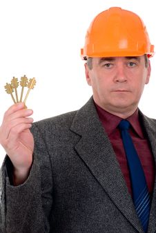 Free Middle-aged Constructor Royalty Free Stock Photo - 6479755