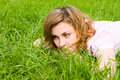 Free Woman Rest On The Grass Royalty Free Stock Photos - 6481748
