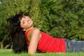 Free Woman Rest On The Grass Stock Photography - 6482232