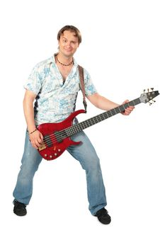 Free Young Man With Guitar Dancing Royalty Free Stock Photo - 6480025