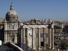 Free Ruins Of An Ancient Roman Forum Stock Images - 6480154