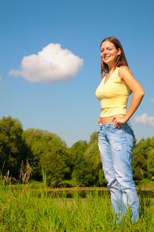 Free Youmg Woman Posing In Park Stock Images - 6480714