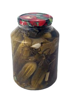 Free Pickles In A Jar Stock Photography - 6480982