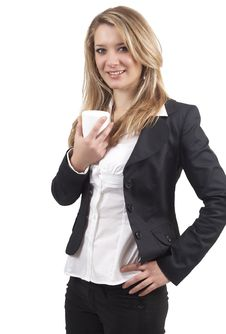 Free Beautiful Blonde Businesswoman Royalty Free Stock Photography - 6481147