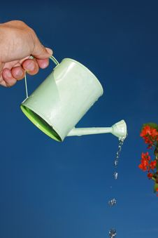 Watering The Crop Royalty Free Stock Images