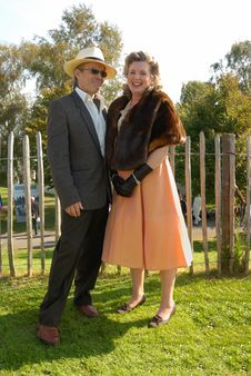Free Mature Couple In Retro Outfits Stock Photos - 6481723
