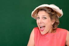 Free Excited Girl In Retro Style Royalty Free Stock Images - 6481869