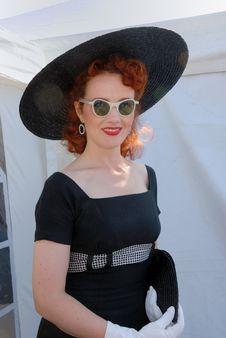 Free Glamorous Fifties Girl In Sunglasses Royalty Free Stock Image - 6481926