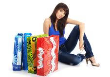 Free Woman With Shopping Bag Royalty Free Stock Photos - 6482028