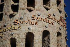 Free Sanctus On Sagrada Familia Royalty Free Stock Images - 6482309