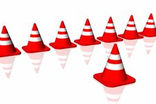 Free 3d Traffic Cone Royalty Free Stock Photo - 6482385
