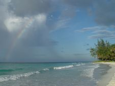 Morning Rainbow, Barbados Royalty Free Stock Image