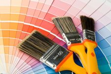 Free Brushes And Color Guide Stock Images - 6482654