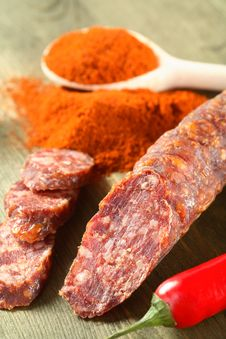 Free Sausage, Chili And Red Pepper Stock Images - 6482724