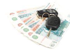 Car Keys And Money Stock Photo