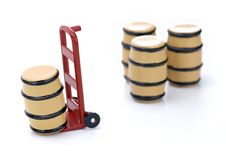 Free Barrel And Dolly Royalty Free Stock Photo - 6483755