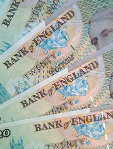 English Pound Notes Royalty Free Stock Image