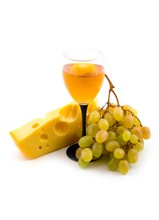 Free Grapes And Bottle Stock Photography - 6485582