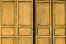 Ancient, Wooden Door Royalty Free Stock Photo