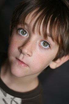 Portrait Of Freckly Boy Royalty Free Stock Photos