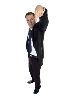 Free Male Gesturing With Finger Royalty Free Stock Images - 6485999