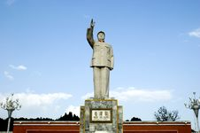 Monument Of Mao Zedong In Lijiang City, Yunnan Stock Photo