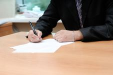 Free Signing The Document Stock Images - 6486524
